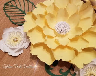 Template 25 SVG/DXF Paper Flower - Digital Download Silhouette Cricut