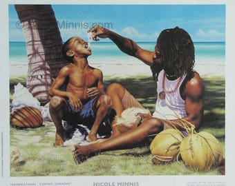 Generations - Caring, Sharing -  Bahamian art print by Nicole Minnis