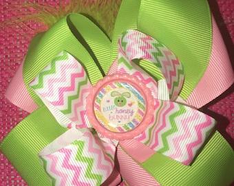 Handmade kids Easter bow