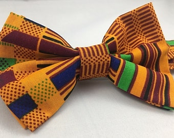 African Print bow tie. Neck tie