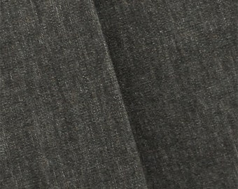 Ash Gray Roth/Tompkins Cotton Chambray Decorating Fabric, Fabric By The Yard