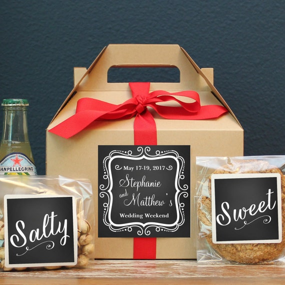 Gifts For Out Of Town Wedding Guests: Set Of 6-Out Of Town Guest Box / Wedding Welcome Box / Wedding