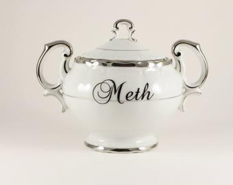 METH Harmony House Porcelain Sugar Bowl Jar Pot  CuSTOMIZABLE