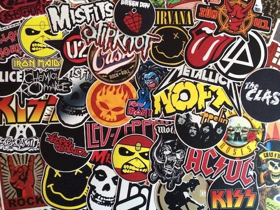 Set of rock band stickers music hard rock metal punk music