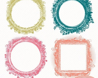 50%OFF Frame clipart, floral frame, floral grunge wedding photo frames clipart for card making, wedding and baby photography, P176
