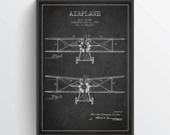 1929 Airplane Patent Print, Airplane Art, Airplane Print, Aviation Decor, Airplane Patent, Aviation Art, Aviation Art, Pilot Gift, TRAV34P
