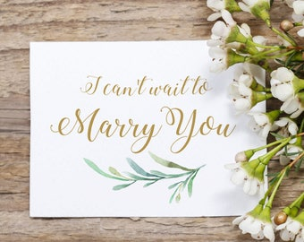 Can't Wait to Marry You Card, Wedding Card, Bride to Groom Card, To My Bride Card, To My Groom Card, PDF printable.