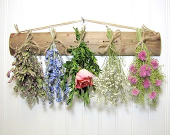 Dried Flower Rack, Drying Rack, Dried Flower Arrangement, Farmhouse Wall Decor
