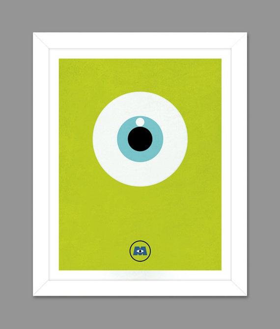 Digital Download Monsters Inc. Big Eye Poster Art Nursery Art