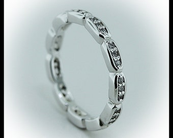 Diamond Eternity Band Anniversary Band or Stackable Ring