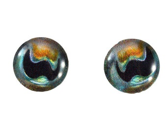 10mm Cuttlefish Glass Eye Cabochons - Taxidermy Eyes for Doll or Jewelry Making - Set of 2