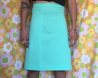 50's polyester pistachio skirt