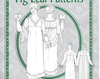 Fig Leaf Patterns® 214 Surplice Bodice Dress, c. 1810-1815, size 18-28