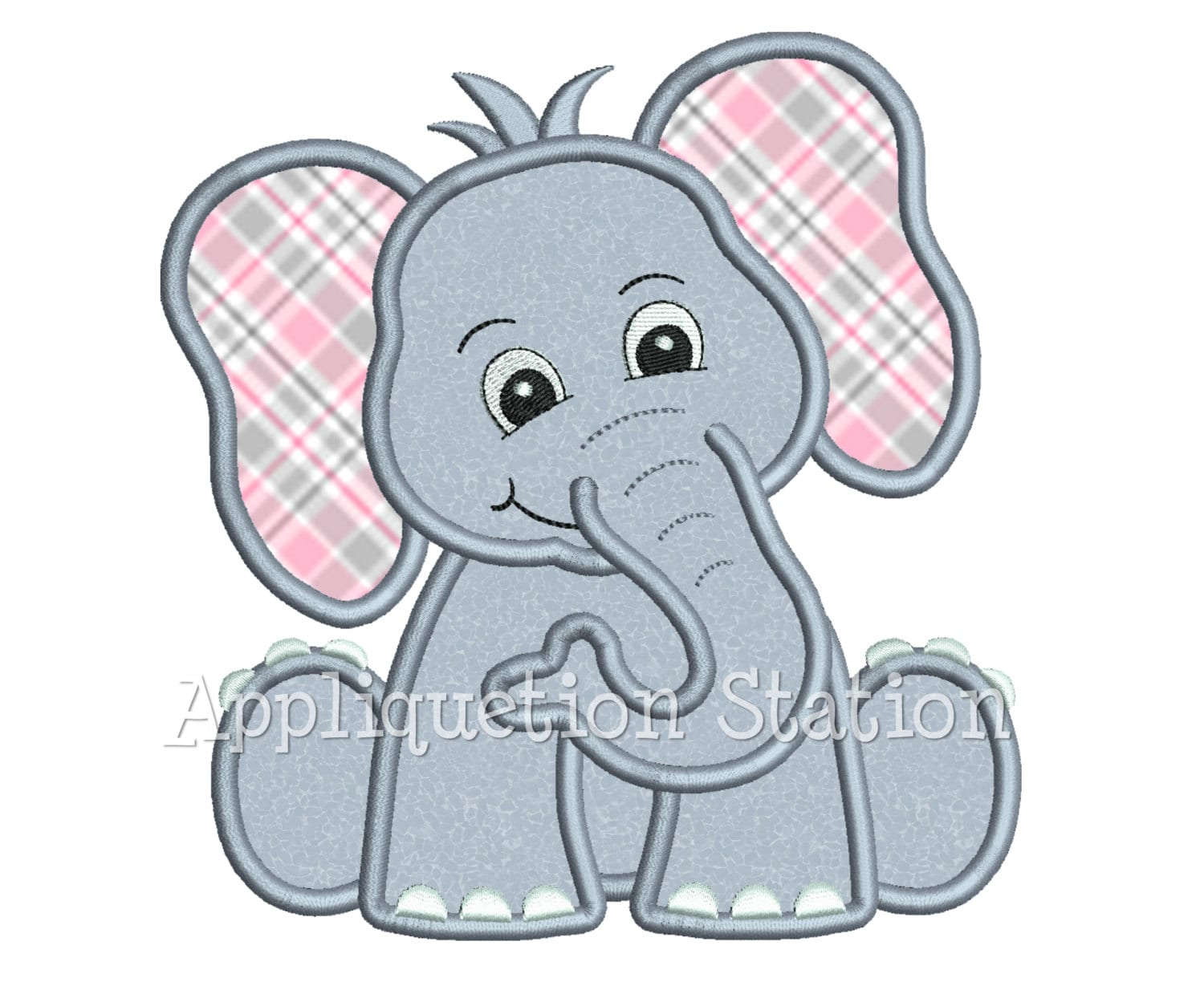 Zoo baby elephant applique machine embroidery design jungle for Embroidery office design version 9