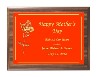 Mother's Day Award Plaque