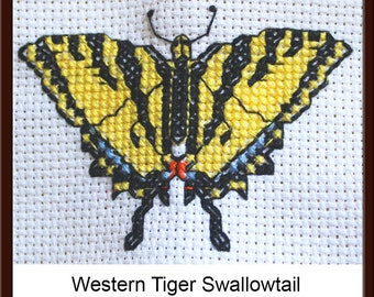 Western Tiger Swallowtail 3-inch Counted Cross Stitch  (Digital Download)