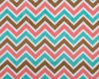 Shannon Fabrics Coral Breeze Chevron Cuddle Minky, Coral Chevron minky, Shannon minky, Adorn it Minky