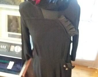 Vintage 1950's Black Dress