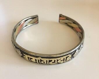 Beautiful boho, ethnique, gypsy, handcrafted, cuff bracelet, bohemian jewelry