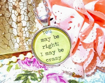 Sayings necklace pendant jewelry
