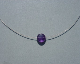 Minimalist AMETHYST NECKLACE gemstone necklace Crystal healing lucky woman gift not cheap thin summer necklace necklace
