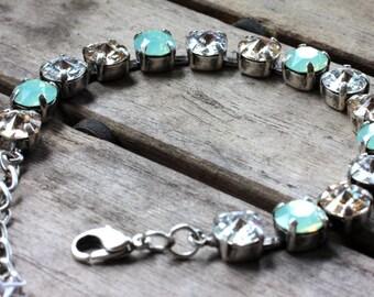Opal mint jewelry set
