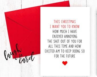 Funny Christmas Cards, Christmas Cards, Boyfriend Christmas Cards, Girlfriend Christmas Cards, Wife, Husband Christmas Cards