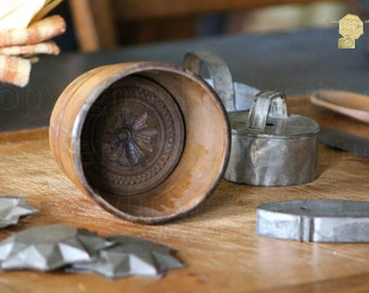Antique Cookie Press and Pewter Molds Photograph Photography by Colleen Cornelius Bring the Outdoors In Zen Home Decor