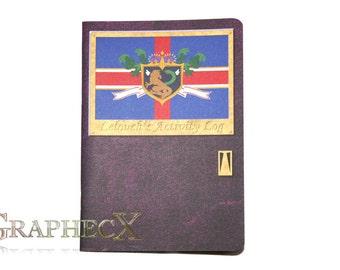 Fan-made Code Geass Lelouch book inspired personalized journal notebook