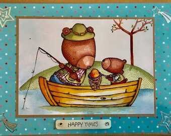 Happy Times Fishing Card