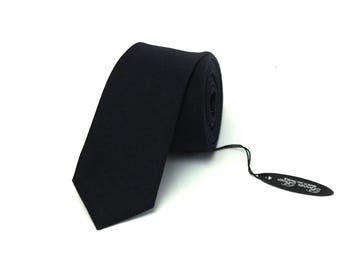 Mens Necktie Black wool Tie Men's skinny tie Wedding Ties Necktie for Men Wedding necktie 162tw