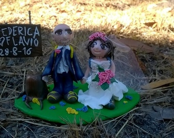 Non-customized wedding cake topper