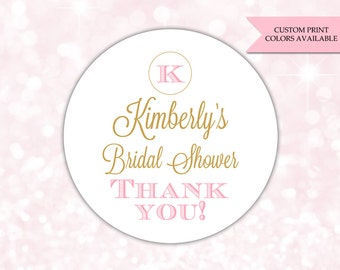 Bridal shower stickers - Bridal shower labels - Bridal shower favor sticker (RW042)