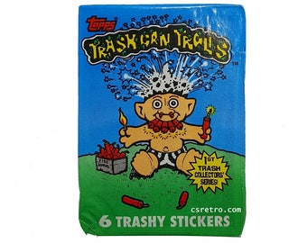 Trash Can Trolls Cards Stickers Wax Pack Trading Cards Pack Vintage Retro 1992