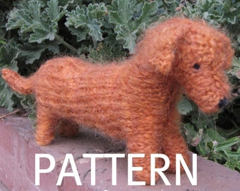 Dachshund Dog Knitting Pattern (PDF), Instant Download