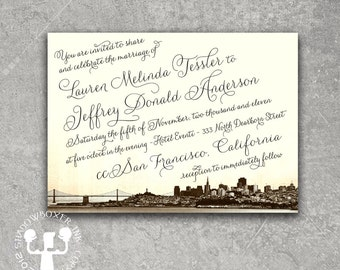 Vintage San Francisco Invitation Save the Date