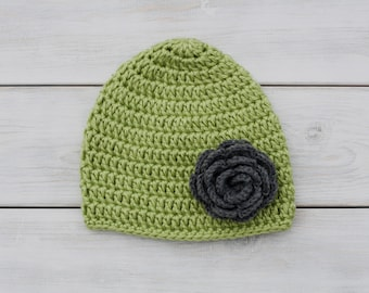 Flower Crochet Hat (any colors!)