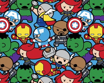 Marvel Avengers Kawaii All in the Pack Fabric by Disney for Springs Creative