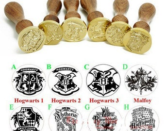 beautiful stamp wood and metal to seal your envelopes with wax models coat of arms