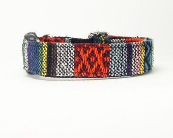 White Red Orange Blue Tribal Boho Bohemian Aztec Navajo Dog Collar, Dog Collar, Dog Collars for girls, Dog Collars for boys, summer spring