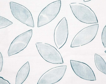 Leaves Pillow Cover in Marine & Ice