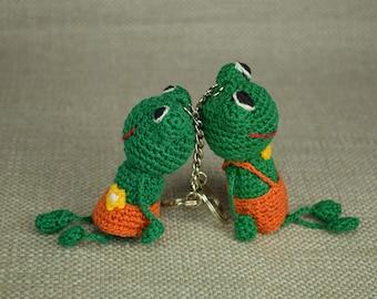 Keychain Frog, Amigurumi Frog, Stuffed Frog, Crochet Frog, Keychain