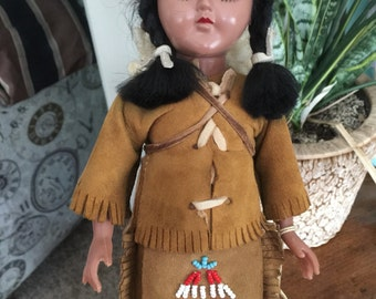 Vintage Minnehaha Doll Indian doll