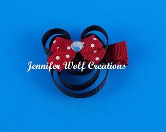 Mouse Ribbon Sculpture Hair Clip