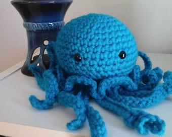 Crocheted Blue Octopus/Jelleyfish