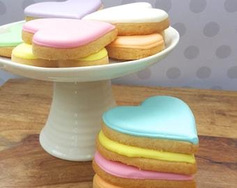 Pastel Hearts Cookies