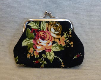 Petite Tapestry Vintage-Style Coin Purse, Purse in choice of colours, Retro purse