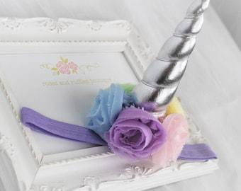 PICK COLOR Unicorn Headband, Baby Girl Headband, Unicorn Birthday, Unicorn Photo Prop, Unicorn Horn, Unicorn Cake Smash