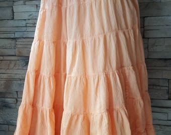 Orange  gauze cotton skirt made in India