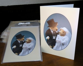 25 Vintage Cornelius and Alice Vanderbear WEDDING cards by North American Bear Company
